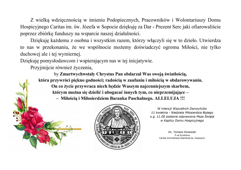 19 zł dla hospicjum na 19 marca